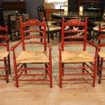 Gruppo di 2 sedie e 2 poltrone
