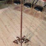 Antica torciera italiana in ferro del xix