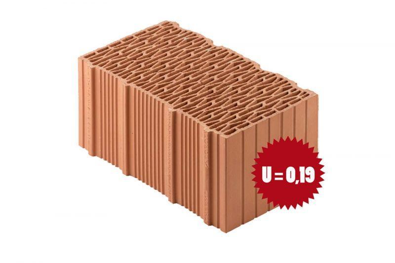 Blocco in laterizio Porotherm BIO PLAN 45-25-19.9 T - 0.09 1
