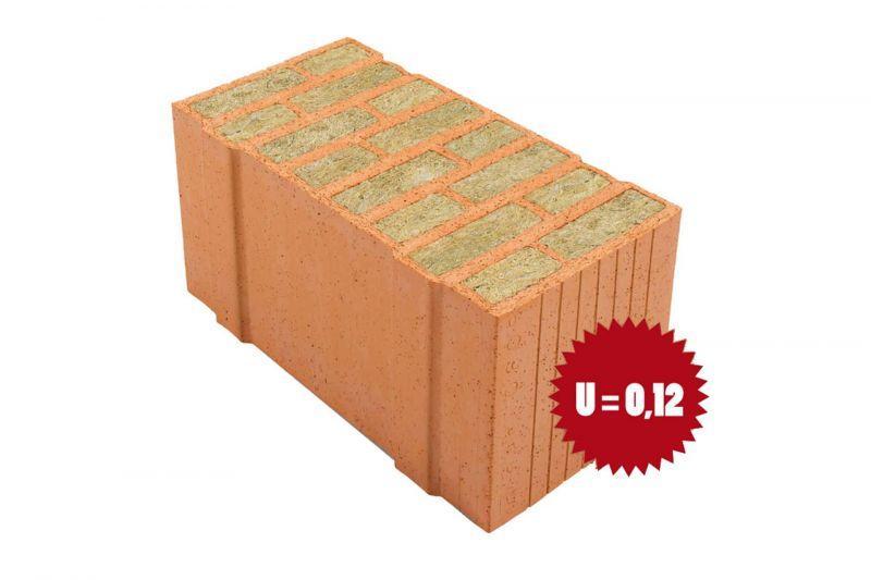 Laterizio con lana di roccia Porotherm PLANA+ 50 - 0.06 1