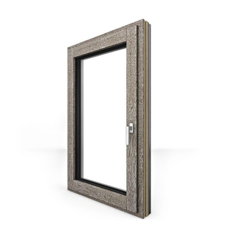Finestra in legno alluminio HF410 4