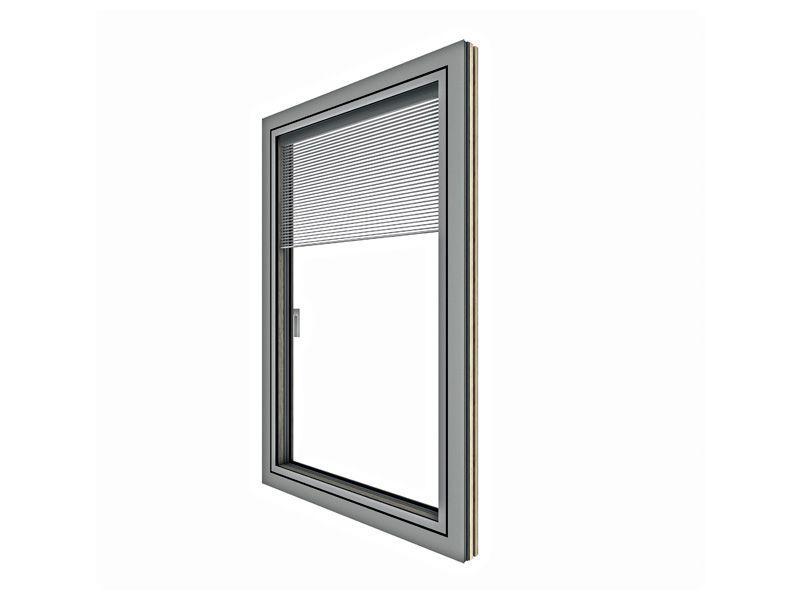 Doppia finestra HV350 in legno alluminio 2
