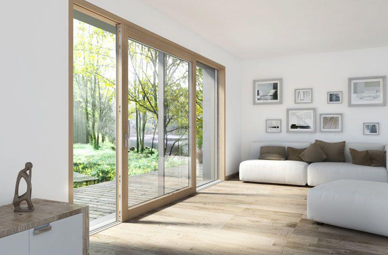 Porta alzante scorrevole in legno alluminio HS330 1