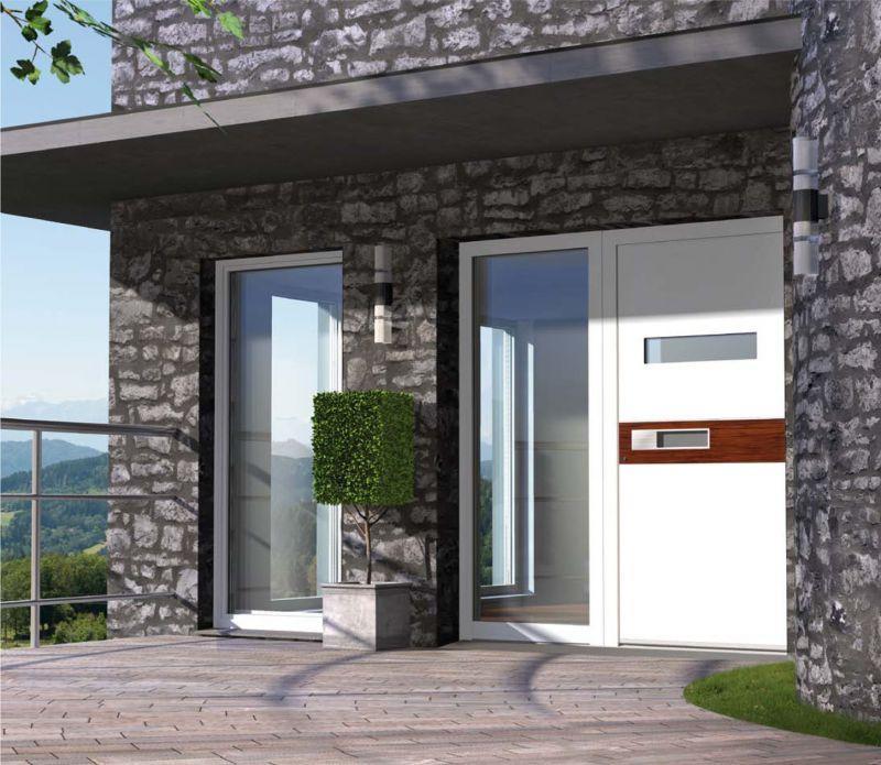 Portoncini per la casa in legno alluminio 2