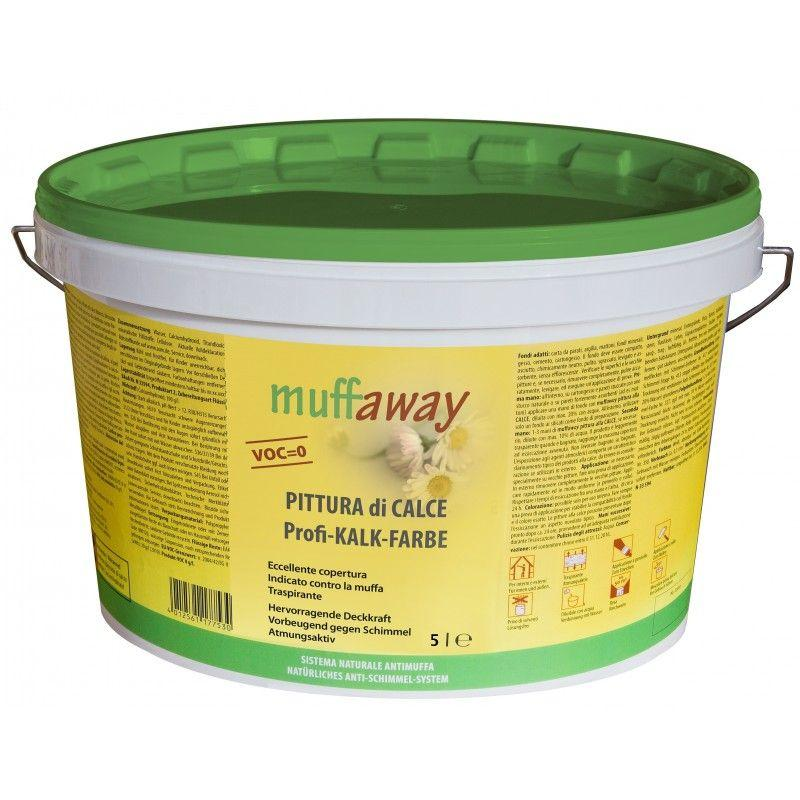 Pittura antimuffa di calce Muffaway 1