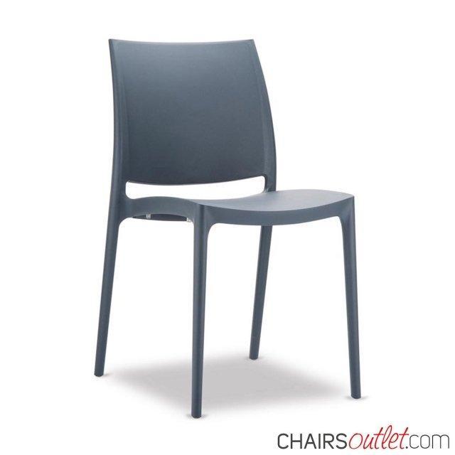 Albicocca: sedia impilabile da 1