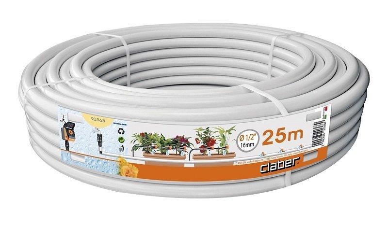 Tubo collettore bianco 25 mt claber 90368 1