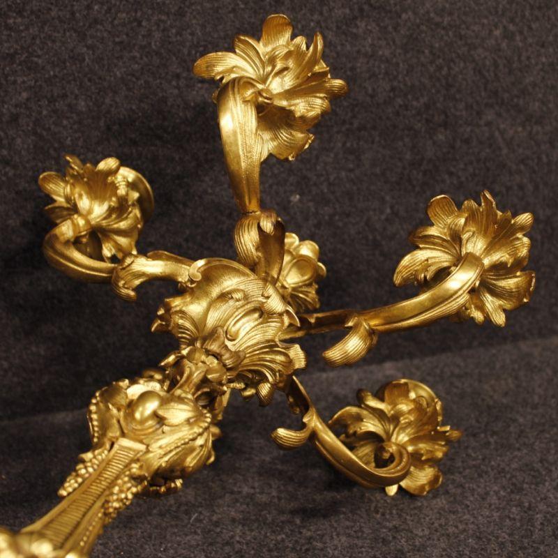 Candelabri antichi dorati 7