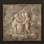 Dipinto francese allegoria dell'astronomia del xix secolo