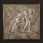 """Dipinto francese """"allegoria della scultura con putti"""""""