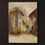 Dipinto italiano paesaggio in stile impressionista