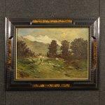 Dipinto italiano firmato paesaggio montano