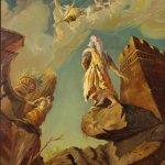 Dipinto italiano mitologico olio su tela