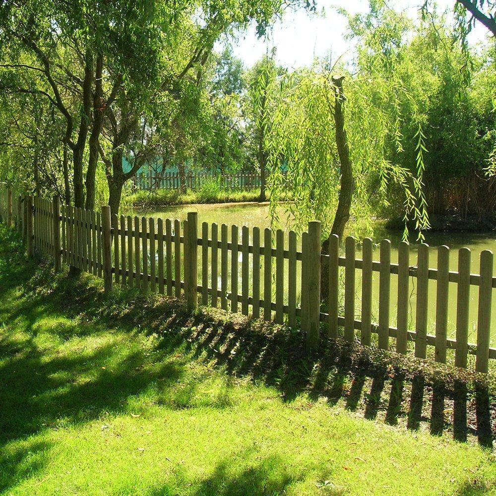 Steccato eco legno pino impregnato cm 180 1