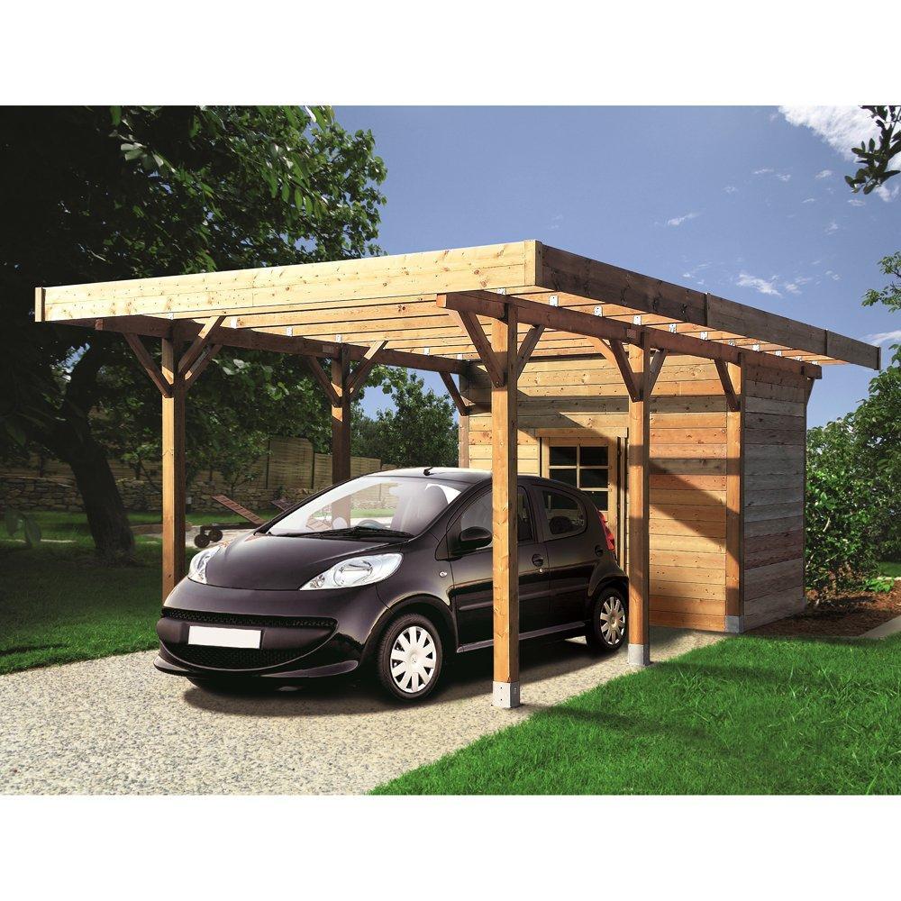 Carport + ripostiglio in legno impregnato 7 1