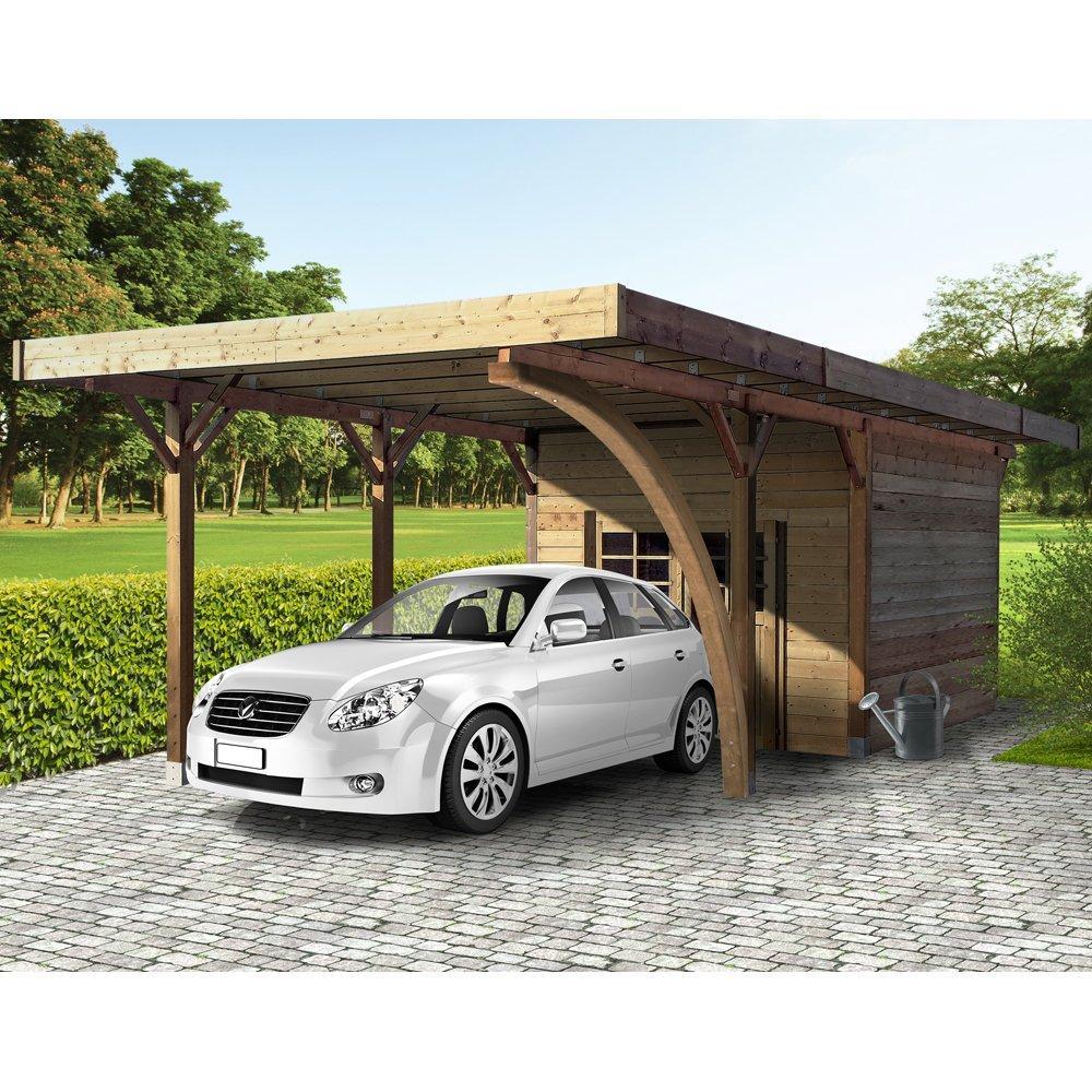 Carport + ripostiglio in legno impregnato 7 - 2908755 1