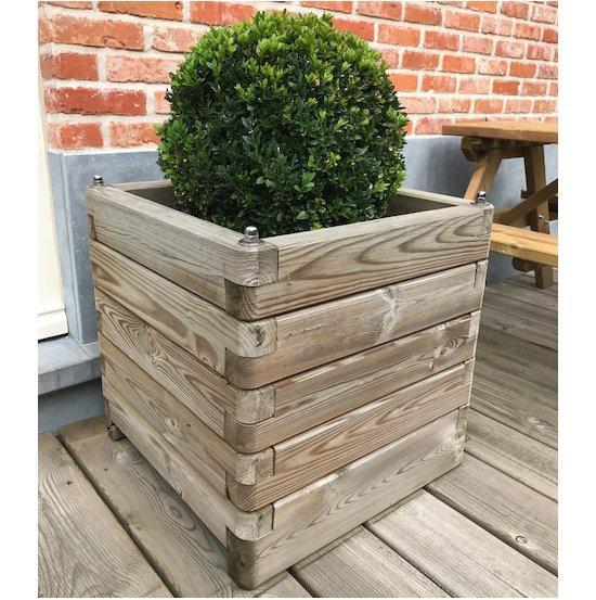 Fioriera robust legno 70x70 altezza 77 cm 1