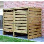 Portabidoni doppio da esterno in legno impregnato