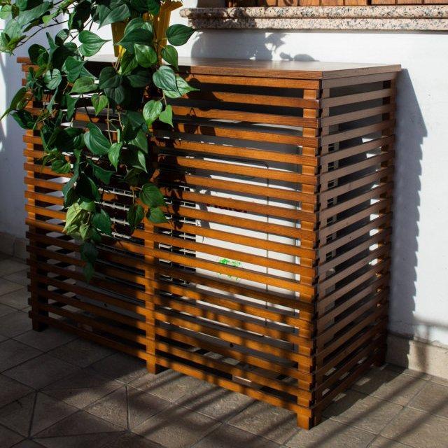 Copri condizionatore in legno noce 970x425 mm 1