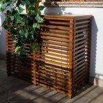Copri condizionatore in legno noce 970x425 mm