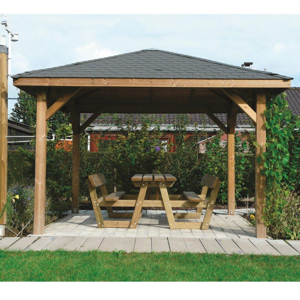 Kiosk gazebo tetto legno + tegole 347x347 1
