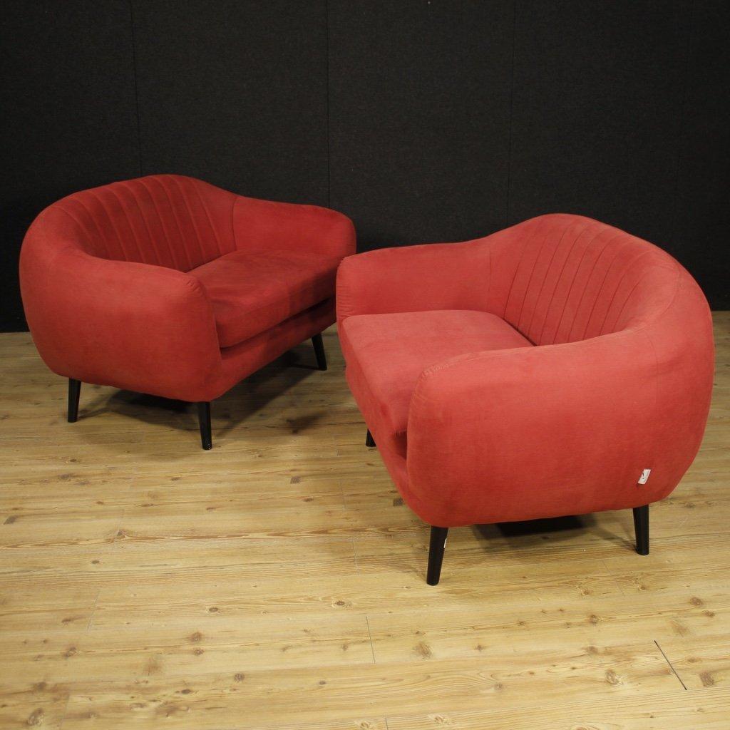 Coppia di divani di design italiano in 1