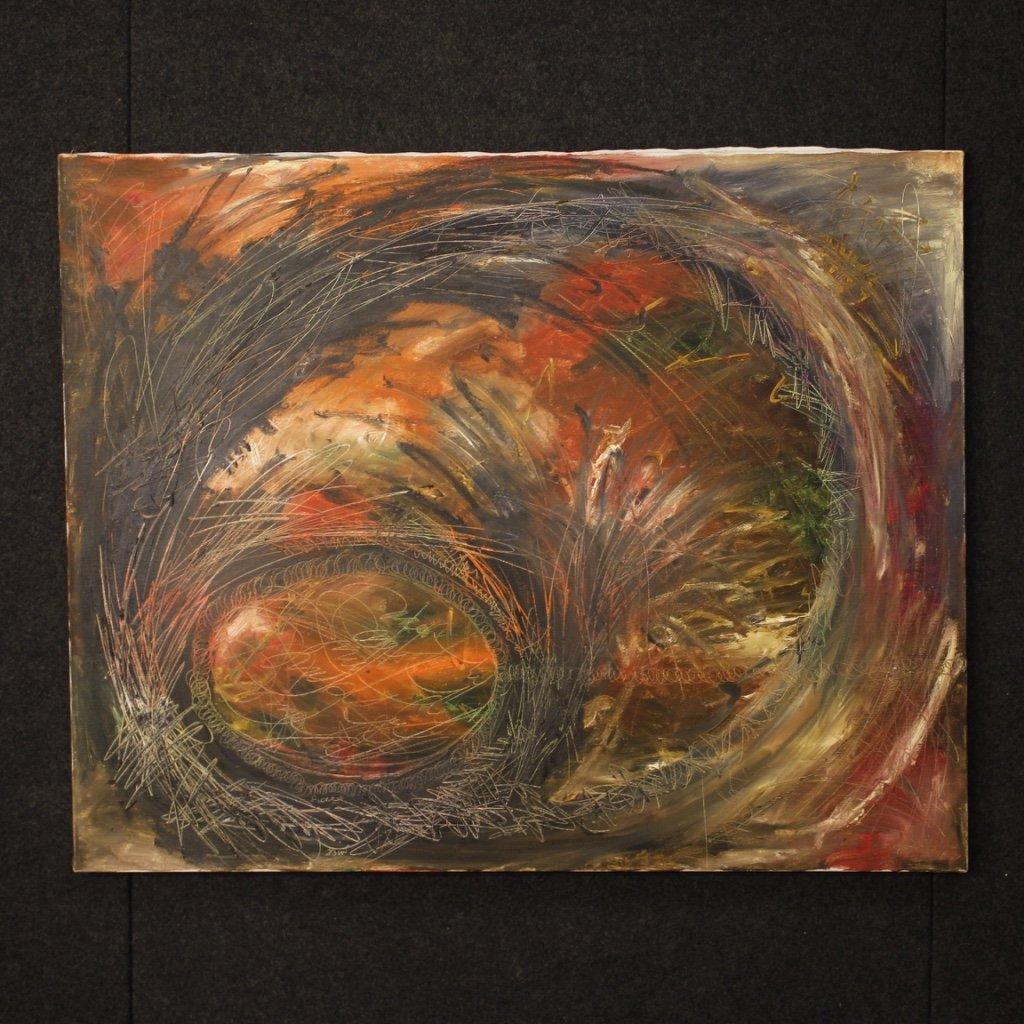 Dipinto astratto tecnica mista su tela 1