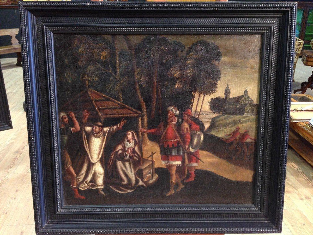 Antico dipinto fiammingo olio su tela del 1