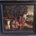 Antico dipinto fiammingo olio su tela del