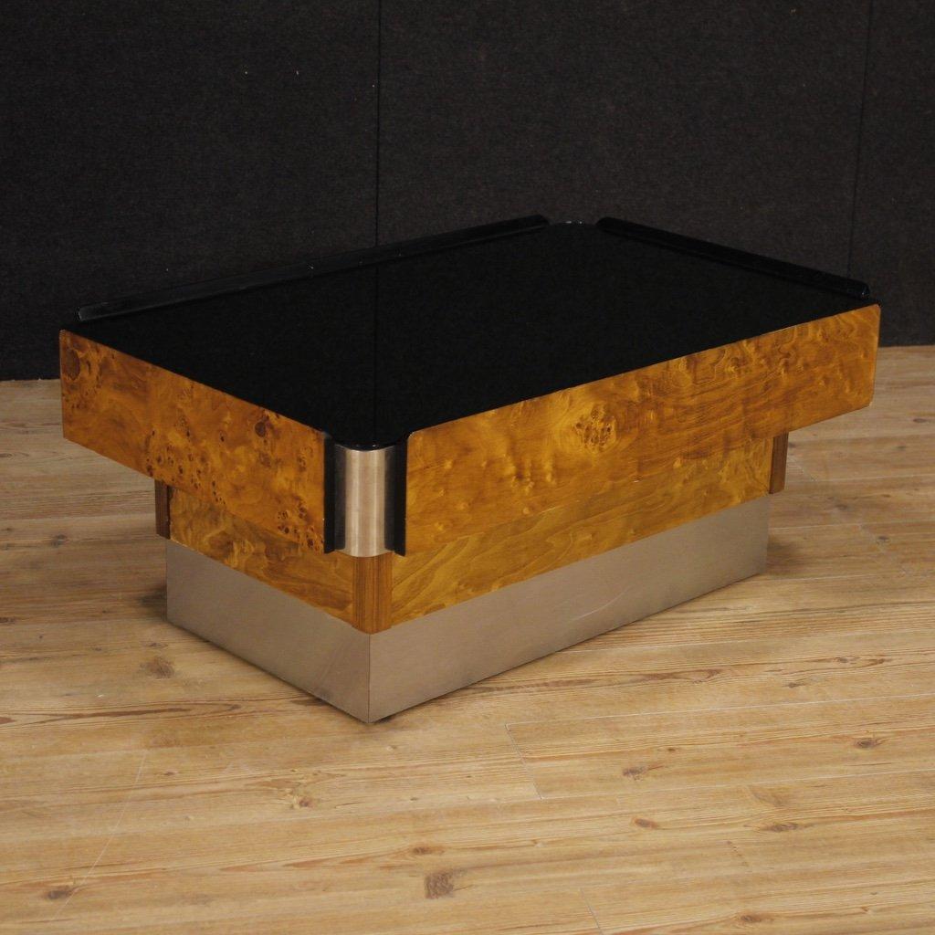 Tavolino italiano di design in legno metallo 1