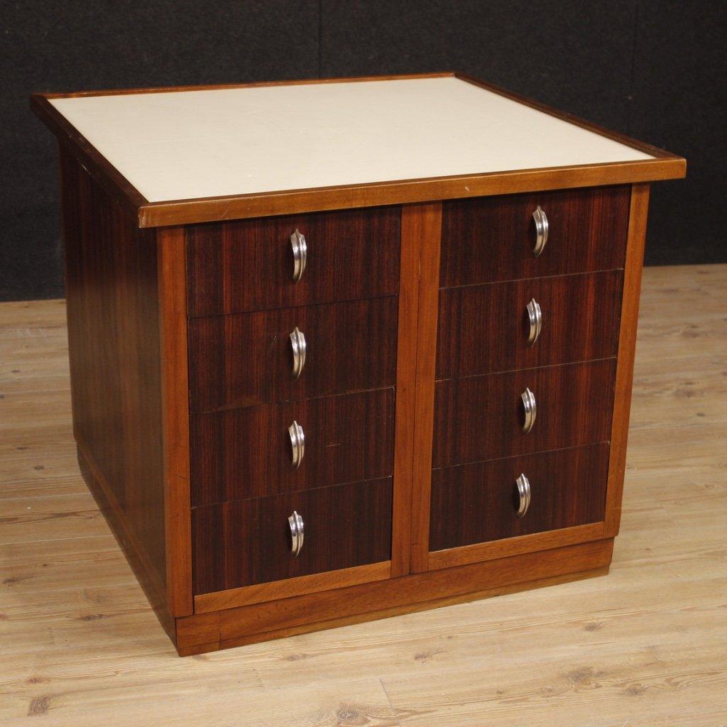 Cassettiera francese di design in legno di 1