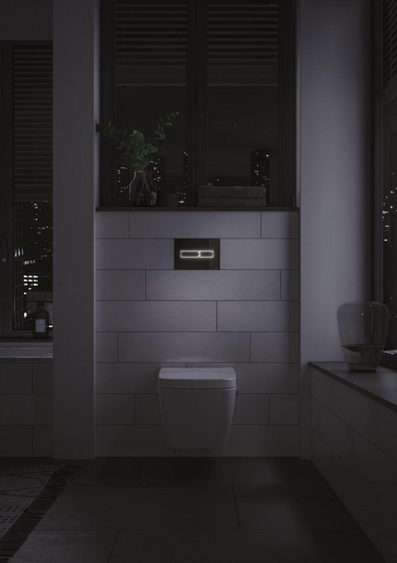 TECElux Mini placca di azionamento WC 1