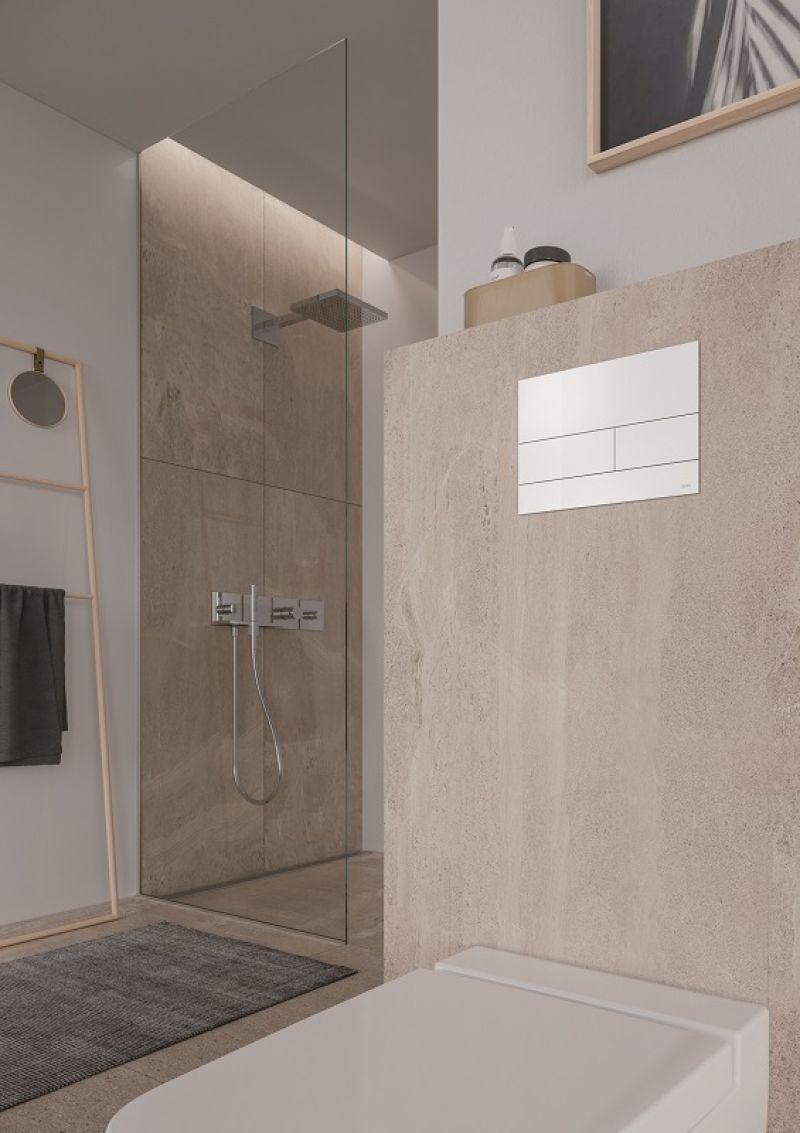 TECEsquare placca WC in metallo 1