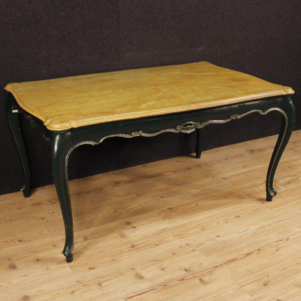 Tavolo veneziano in legno laccato 1