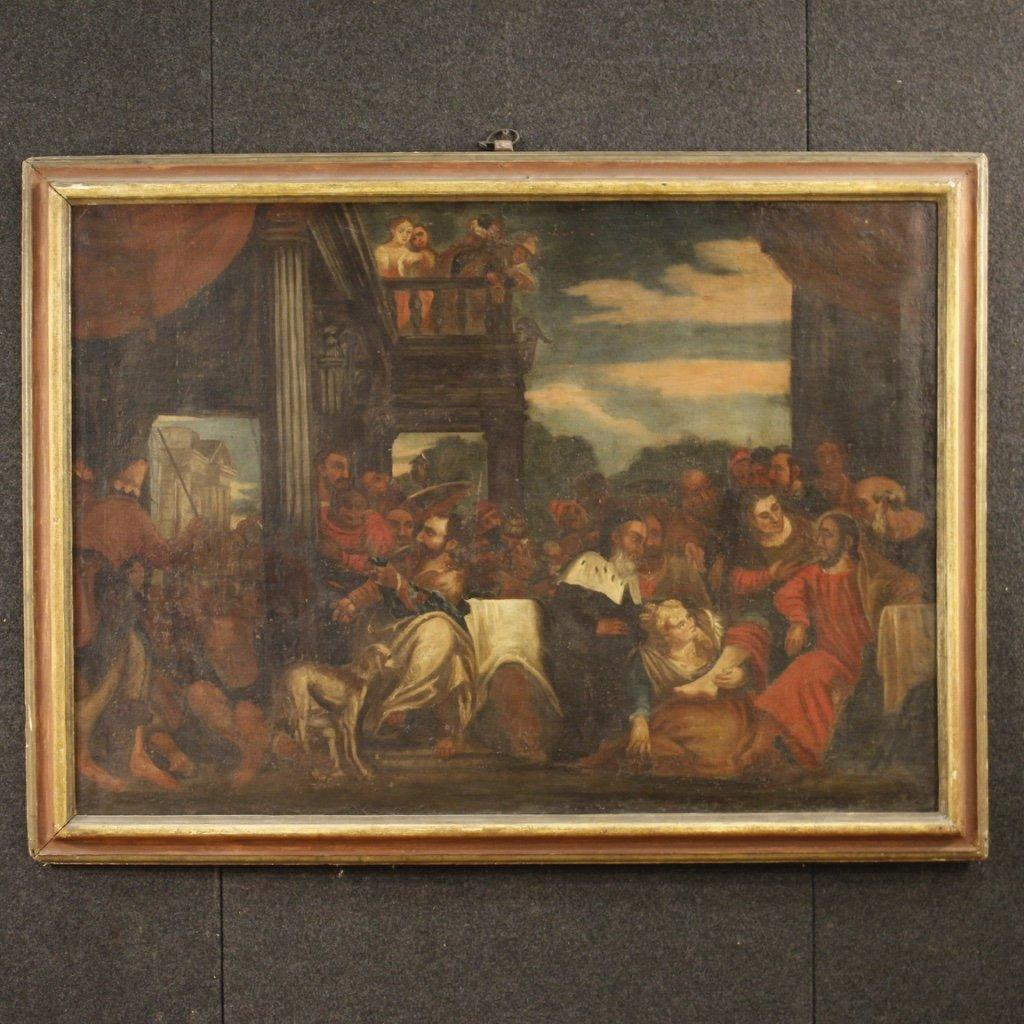 Antico dipinto italiano religioso del xviii secolo 1