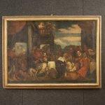 Antico dipinto italiano religioso del xviii secolo