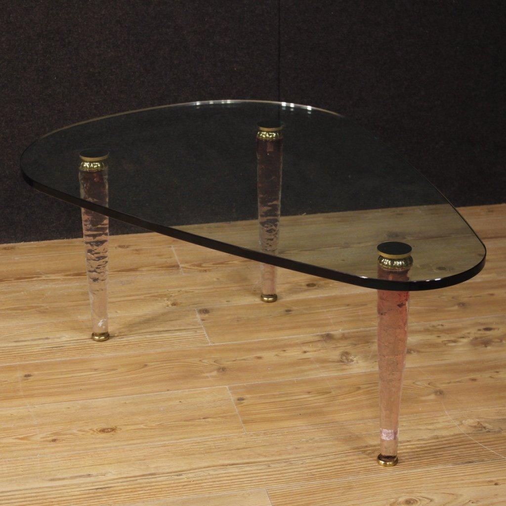 Tavolino di design italiano in cristallo e 1