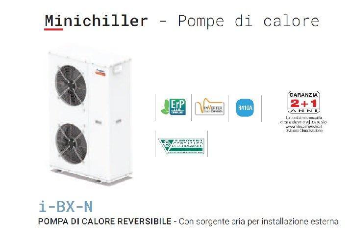 Mitsubishi climaveneta minichiller pompa calore reversibile aria 1