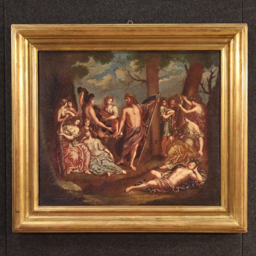 Antico dipinto italiano mitologico del xix secolo 1