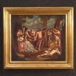 Antico dipinto italiano mitologico del xix secolo