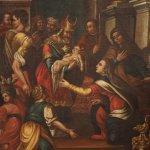 Dipinto italiano religioso presentazione al tempio del