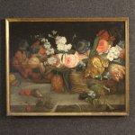 Dipinto francese antica natura morta del xix
