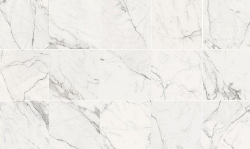 Piastrella gres effetto marmo statuario bianco 3
