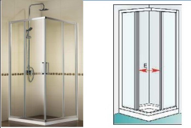Box doccia angolare scorrevole 70x70 - NEPTUM 1