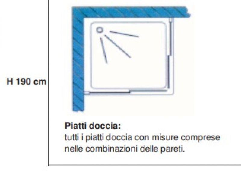 Box doccia angolare scorrevole 70x70 - NEPTUM 2