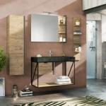 Mobile bagno Industry 100 cm Moro Goffrato-Natural OAK