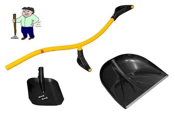 Pala ergonomica tornadica 2 pale plastica + 1