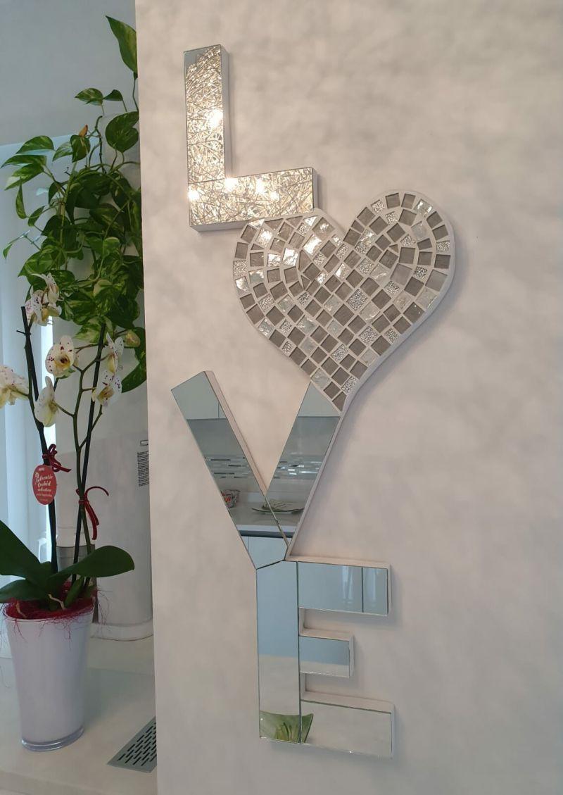 Il Mosaico E Gli Specchi 3.Prezzo Scritta Love In Specchio E Mosaico 2911690