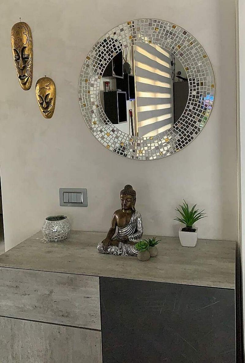 Specchio circolare mosaico 1