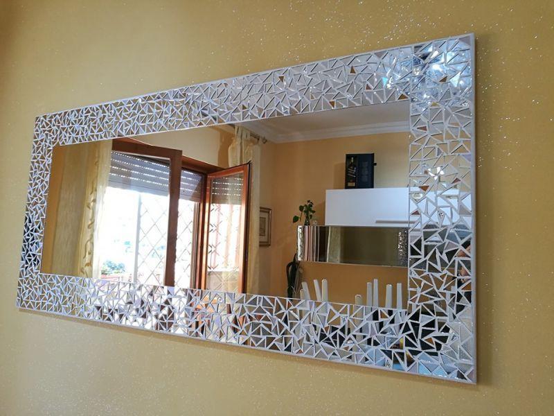 Specchio Best con inserti in foglia oro 1